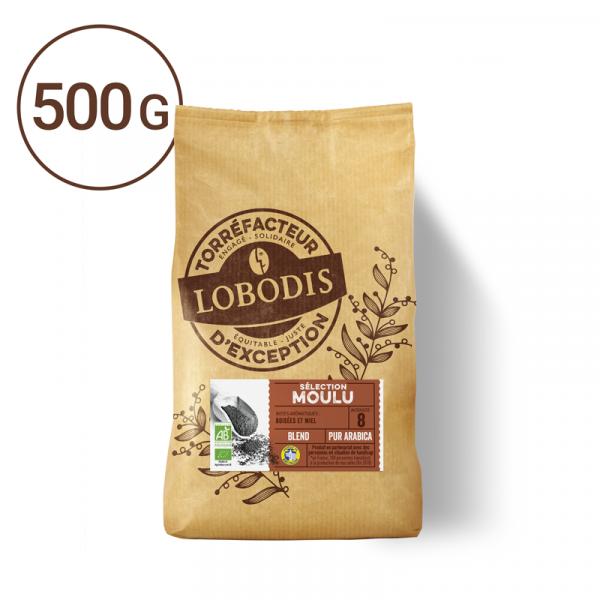 Cafe moulu bio 500g blend torréfaction