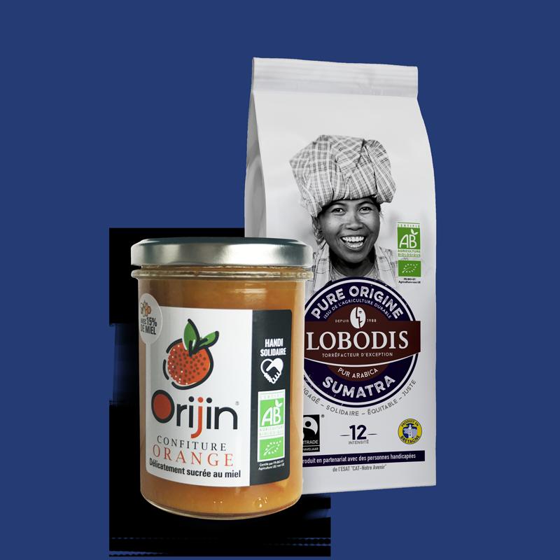 Lobodis - Duo café sumatra - confiture orange
