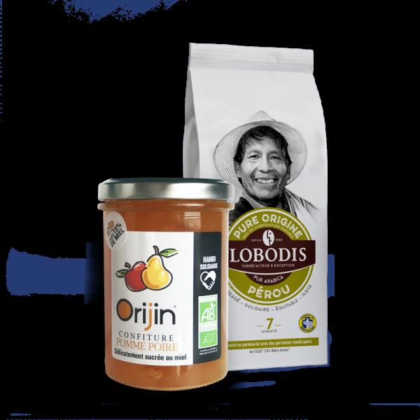 Lobodis - Duo café Pérou - confiture Pomme Poire Miel