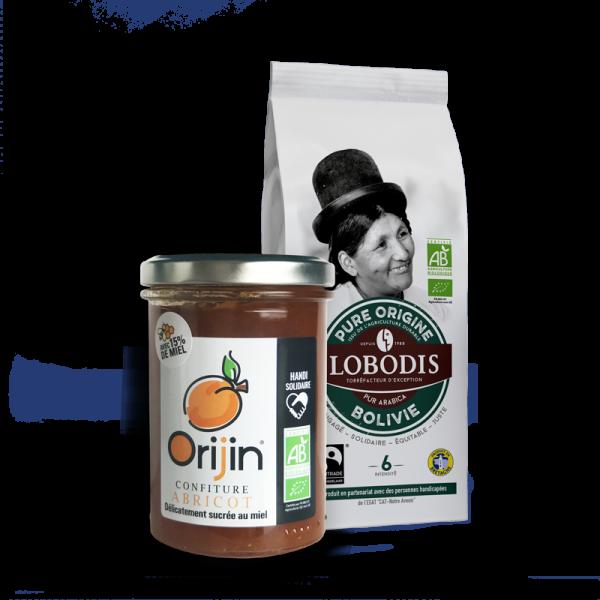 Lobodis - Duo café Bolivie - confiture Abricot