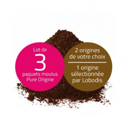 Lot 3 cafés moulus 250g : 2...