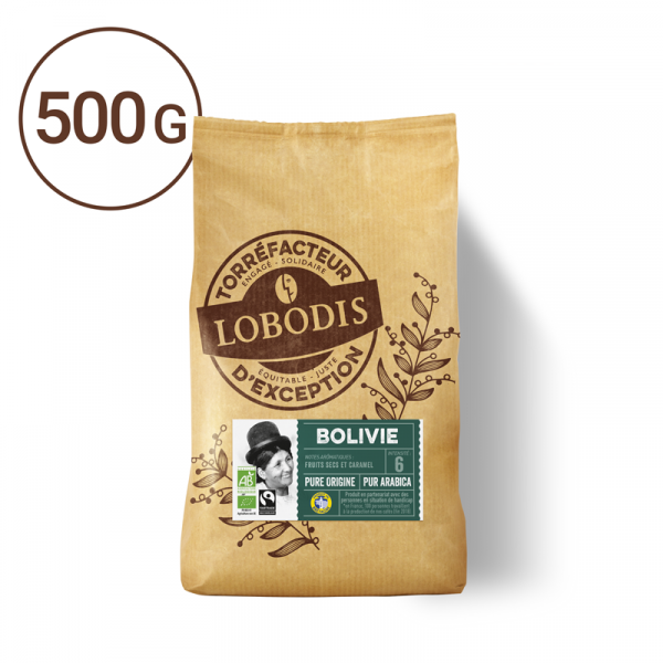 Bolivie Arabica café grain 500g